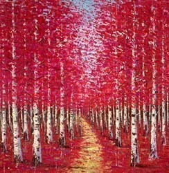 Ruby Woods VI by Inam -  sized 43x43 inches. Available from Whitewall Galleries